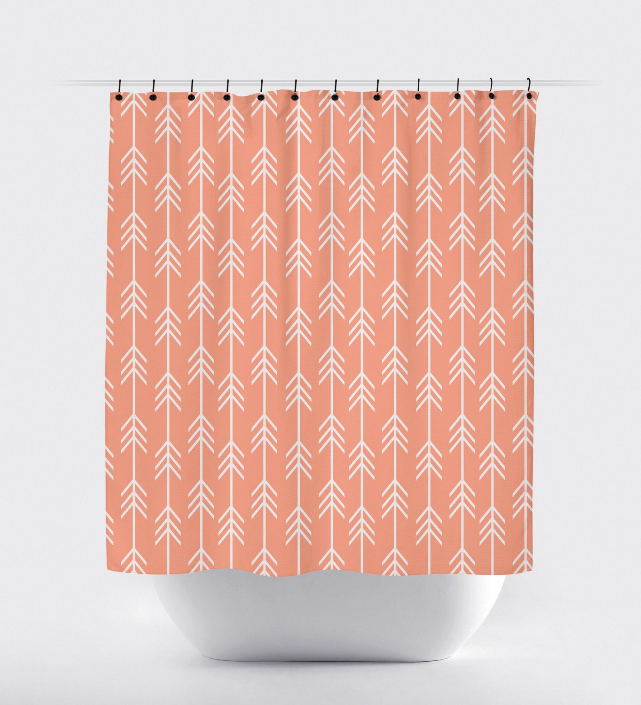 Peach Fabric Shower Curtain High Quality Shower Curtain