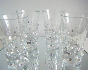 Shot glasses x 4 with added sparkle!