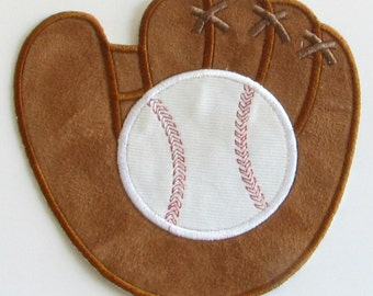 baseball and glove mitt applique machine embroidery design boy sport instant download from. Black Bedroom Furniture Sets. Home Design Ideas