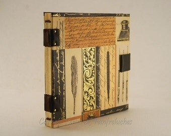 Book travel, Coptic binding, 96 pages ivory sheets