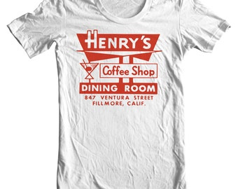 Henry's Coffee Shop Vintage Matchbook T-shirt