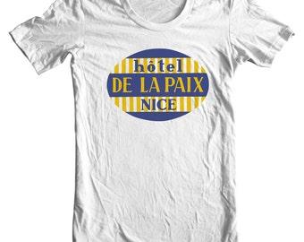Hotel de la Paix Nice France Vintage Travel Sticker T-shirt