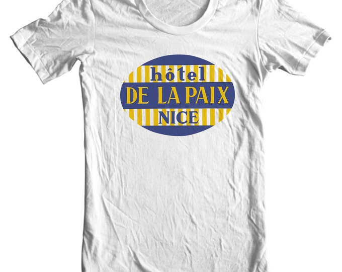 Hotel de la Paix Nice France Vintage Travel Sticker T-shirt