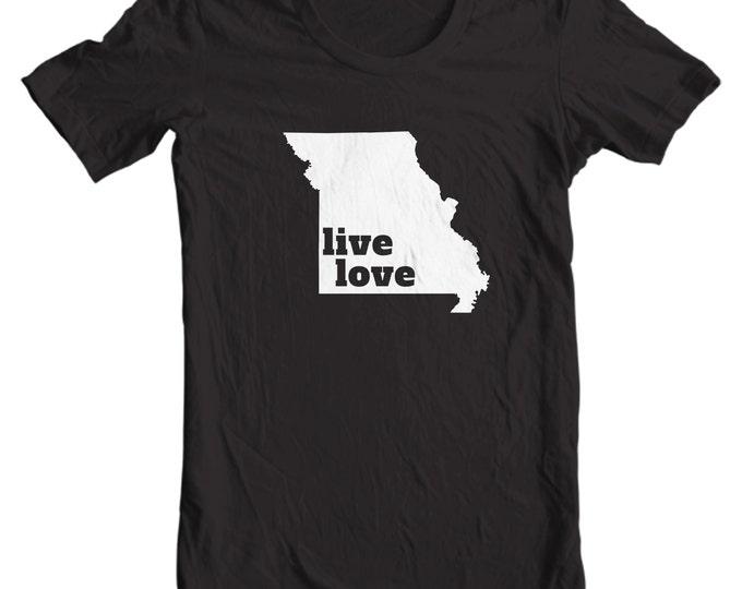Missouri T-shirt - Live Love Missouri - My State Missouri T-shirt