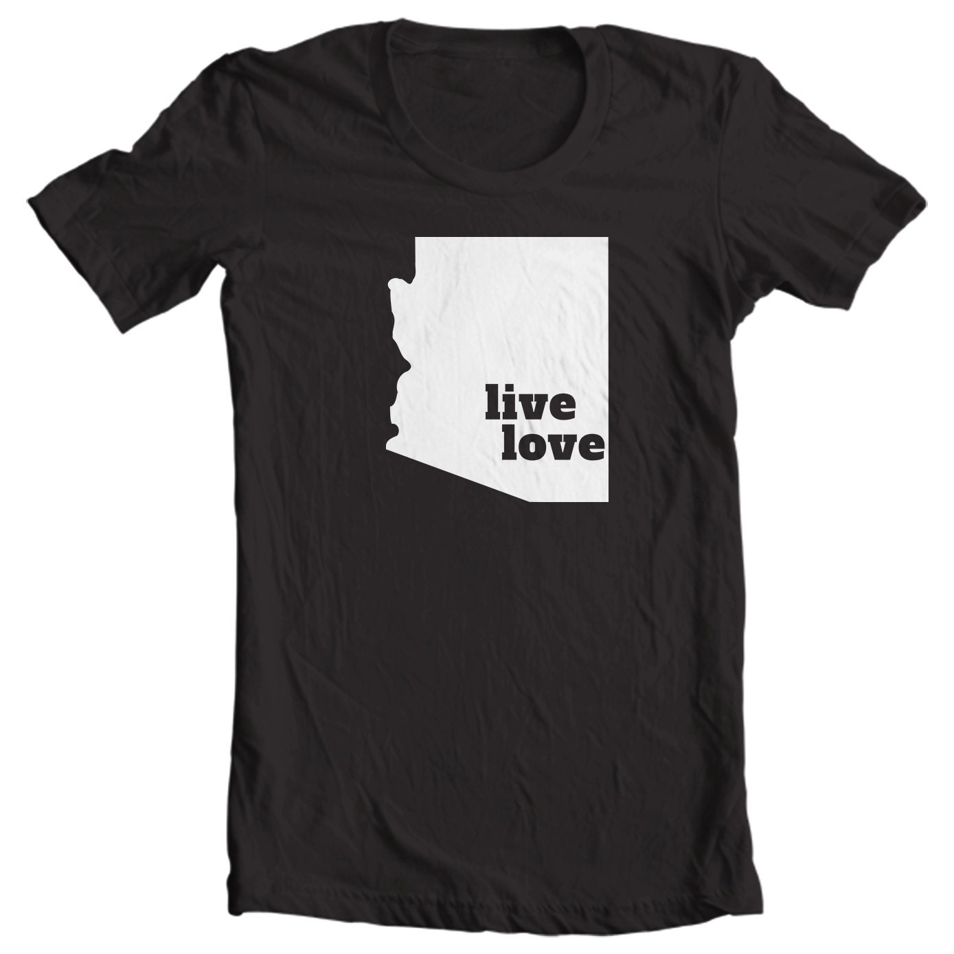 Arizona T-shirt - Live Love Arizona - My State Arizona T-shirt