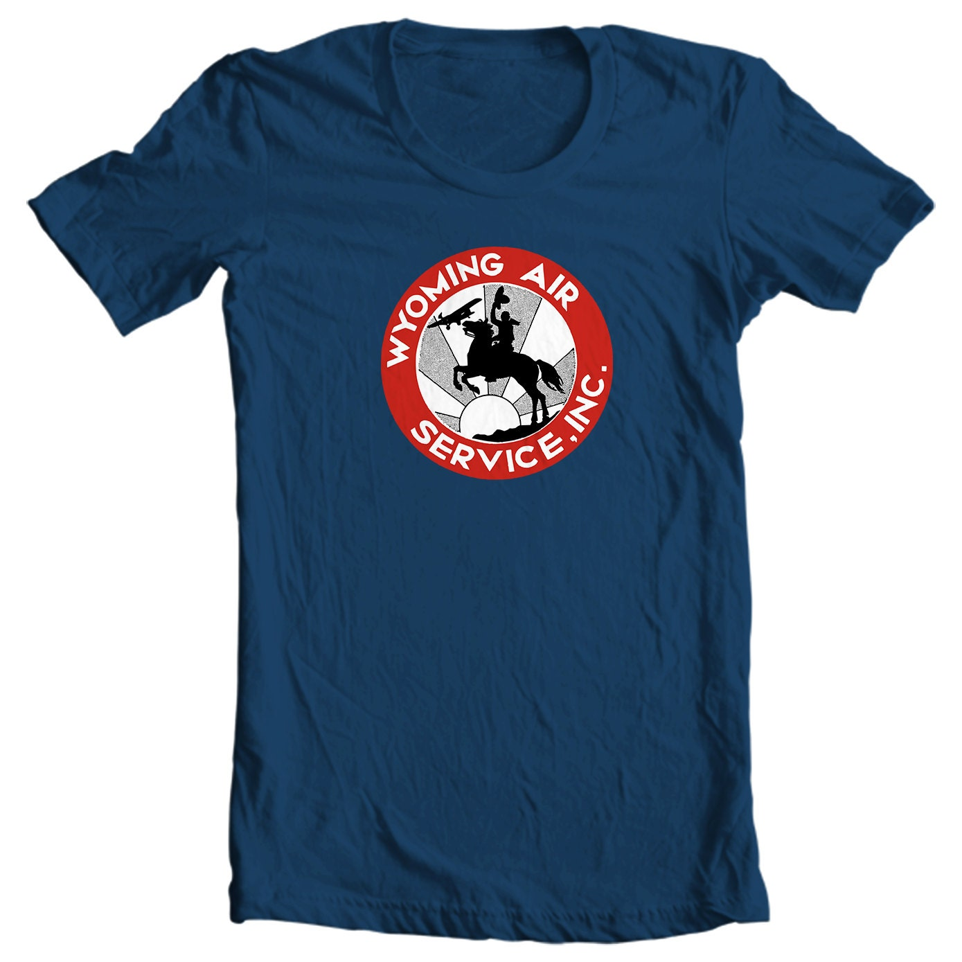 Wyoming Air Services Vintage Travel Sticker T-shirt
