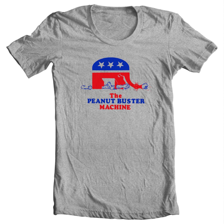 Peanut Buster Machine - Anti-Carter Gerald Ford Political Campaign T-shirt