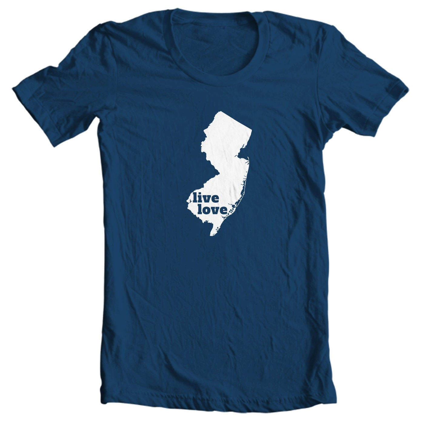 New Jersey T-shirt - Live Love New Jersey - My State New Jersey T-shirt