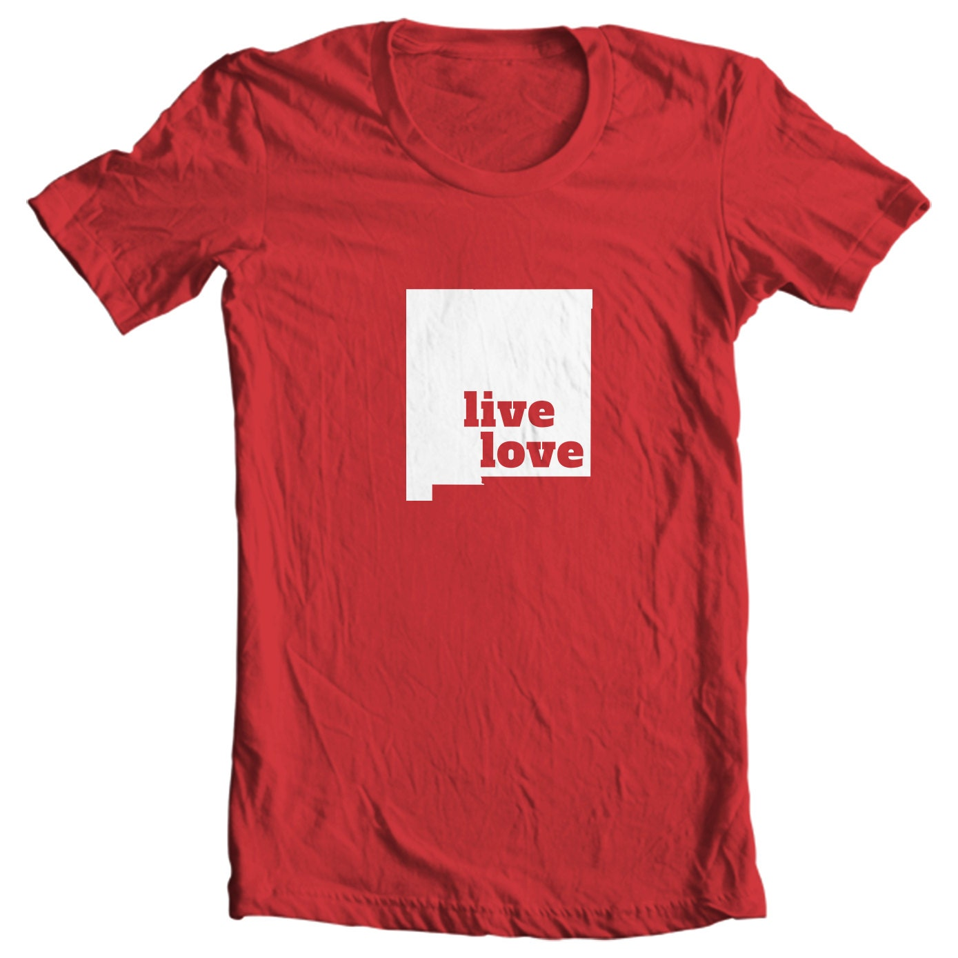 New Mexico T-shirt - Live Love New Mexico - My State New Mexico T-shirt