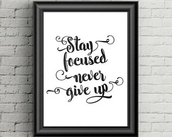 printable quote art, printable artwork, wall decor, inspirational quote, motivational poster, typography art, Inspirational Print, quote art