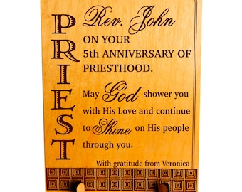 Priesthood Gift, Pastoral Anniversary Gift, Pastor Appreciation Gift, Congratulation Gift to Pastor, Preacher, Priest, Minister. PLP 059