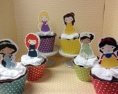 Disney Princess Party Cupcake Toppers Decorations - set of 10