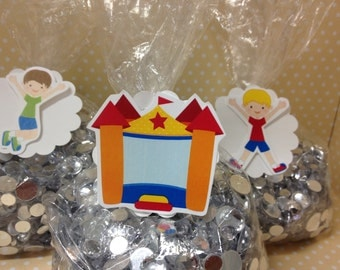 Bounce House Party Favor Bags with Tags