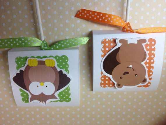forest woodland animals party or baby shower lollipop favors set of