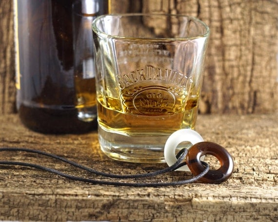 Beer and a shot pendant melted glass jewelry recycled beer - How do you melt glass bottles ...