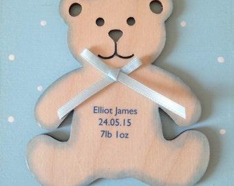 New baby personalised tag / keepsake