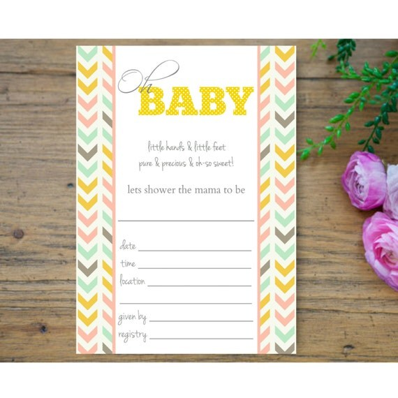 baby shower invitation printable baby shower invitation fill in the