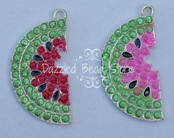 40mm Rhinestone WATERMELON pendant/charm