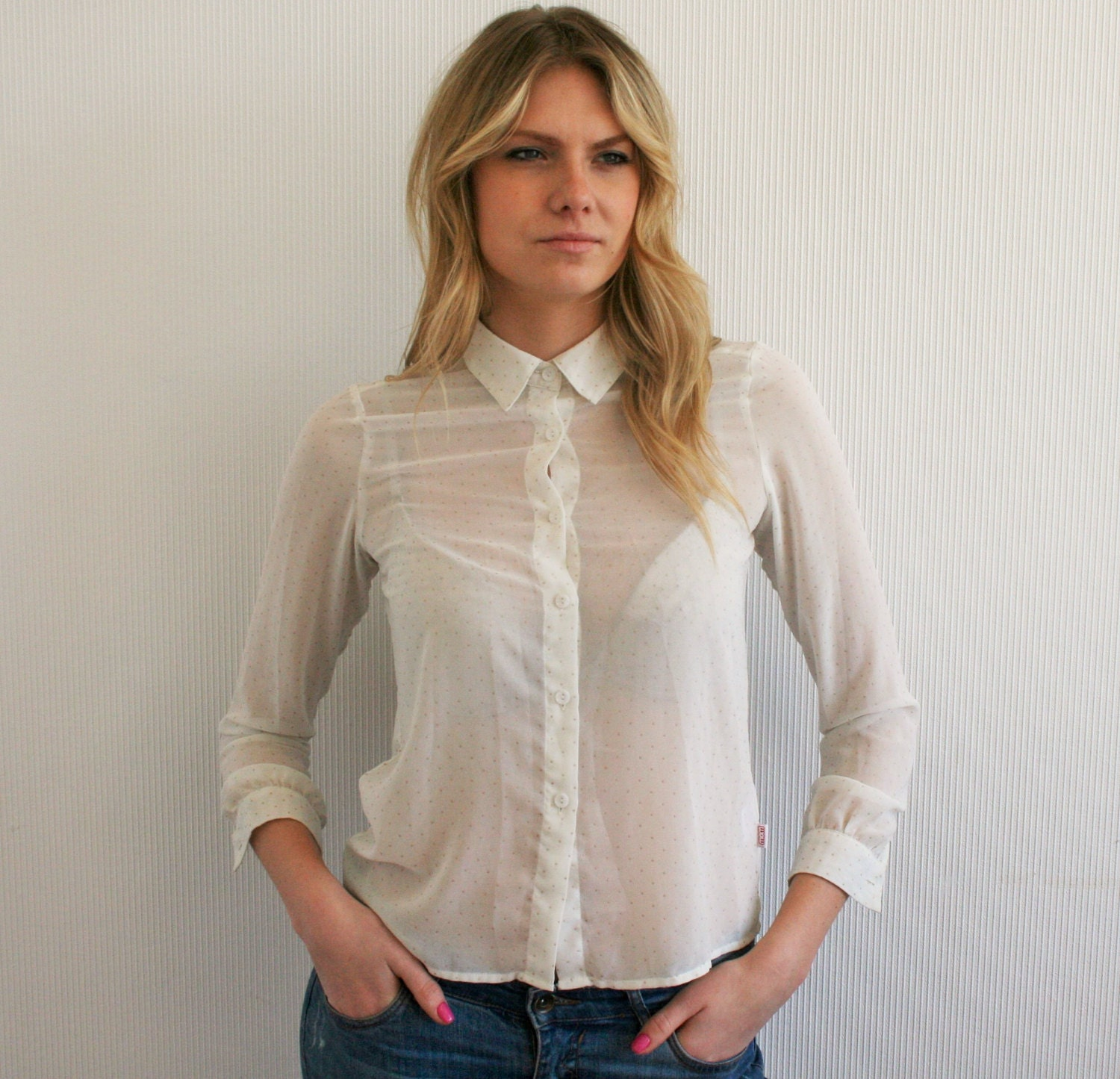White Office Blouse 5