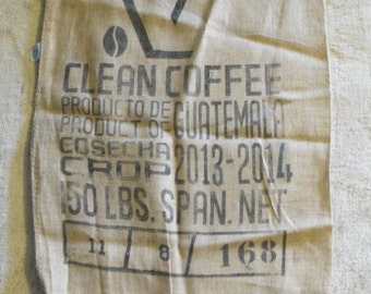 Items similar to repurposed burlap coffee bag hilo Burlap bag decorating ideas
