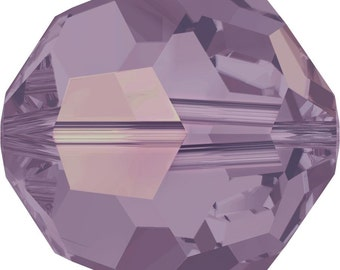 Swarovski Crystal Round Beads 5000 - 3mm 4mm 6mm 8mm - Cyclamen Opal