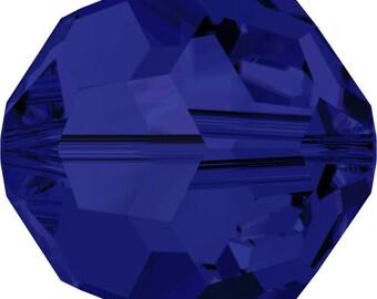 Swarovski Crystal Round Beads 5000 - 2mm 3mm 4mm 6mm 8mm 10mm - Dark Indigo
