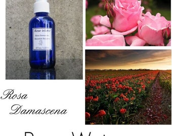 Rose Water, Rosewater, Pure Rose Water, Rosewater, Rose Water Benefits, Rose Hydrosol - 2 oz 100% Pure Authentic Rose Water