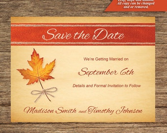 Fall Save The Date FALL-01-STD-Digital Download