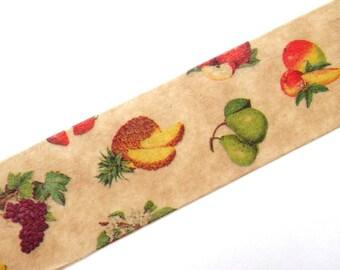 Fresh fruits tape, Washi tape, Wax paper tape, Pineapple, Grapes, Apple, Banana, Pear, Cherry, DIY gardener, Garden wedding, Making cards