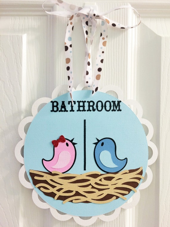 Cute bathroom signs