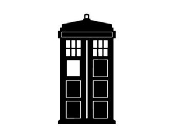 Dr. Who Police Box Vinyl Decal for laptop, car, wall