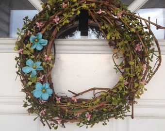 Rustic Spring Vine Wreath for your Cottage