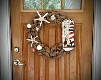 Down by the Sea Door Wreath 18in