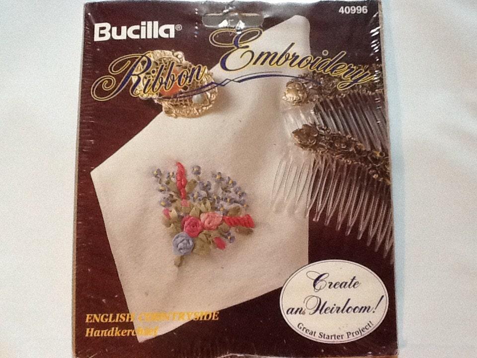 Bucilla vintage silk ribbon embroidery kit english
