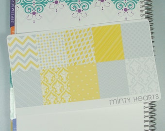 FBED0039 // Yellow & Gray Full Box Planner Stickers