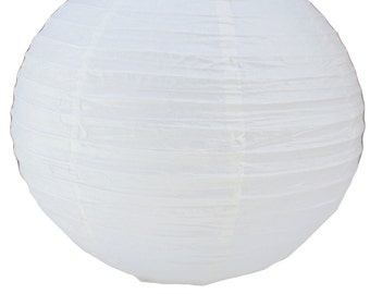 Ivory Chinese Paper Lanterns Party Decor