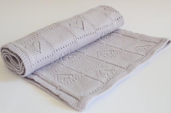 Hand Knitting Merino Wool Blanket : Hand knit baby blanket merino wool blankets by belovedlt