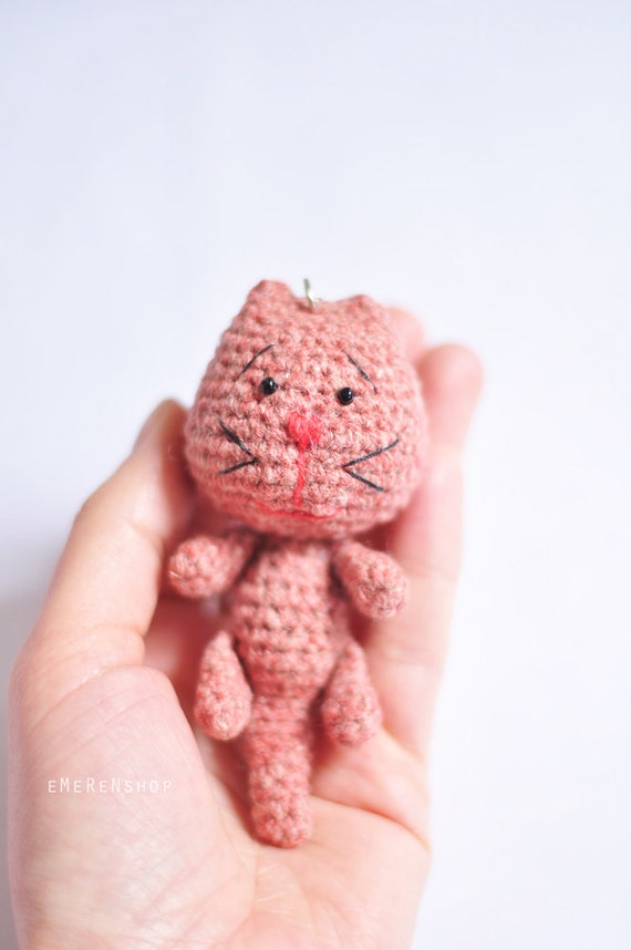 Amigurumi Magische Ring : Amigurumi Cat Stuffed Plush Keychain Cat amigurumi key ring