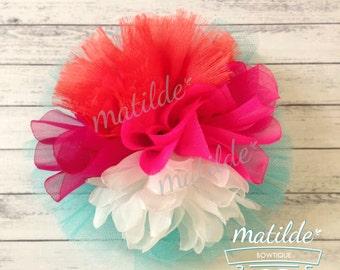 Hair Flower, Hair Clip, Flower Hair Clip, Pink Flower Hair Clip, hair accesories