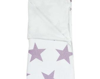 Baby Blanket. Star Mauve Lis