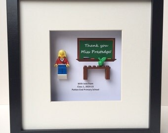 Lego® Teacher Minifigure Thank You Picture