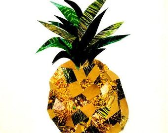 Pineapple Collage Print