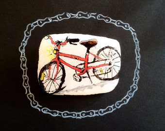 Wearable Art Brooch: My Bike