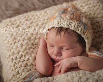 Newborn photo props bonnet choose your colors RTS