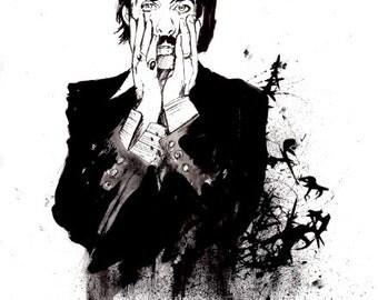 Nick Cave  print drawing