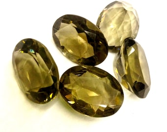2 Pieces of Vintage, Genuine Smokey Quartz Oval Stones