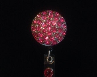 Fuchsia Sparkle -Nurse Retractable ID Badge Reel/ RN Badge Holder/Doctor Badge Reel/Nurse Badge Holder/Student Nurse badge reel/ nursing gif