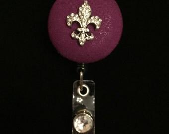 Fleur De Lis -Nurse Retractable ID Badge Reel/ RN Badge Holder/Doctor Badge Reel/Nurse Badge Holder/Student Nurse badge reel/ nursing gift/