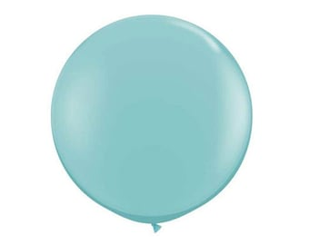 1- Round Baby Blue 36 inch Balloon- Colorful and great quality. Helium Quality