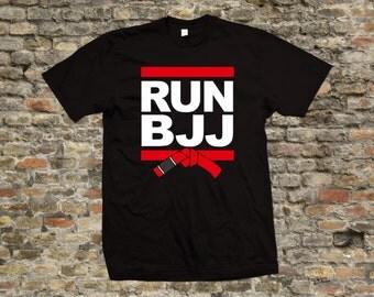 Run BJJ Jiu Jitsu T Shirt 100% cotton - 1973
